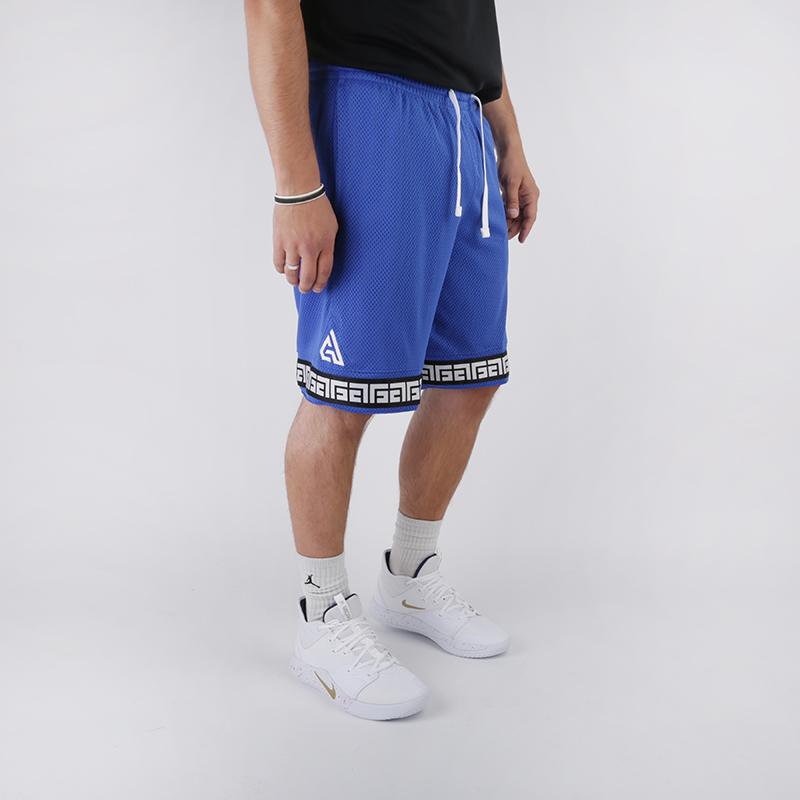 мужские синие  шорты nike giannis logo shorts CD9554-480 - цена, описание, фото 2