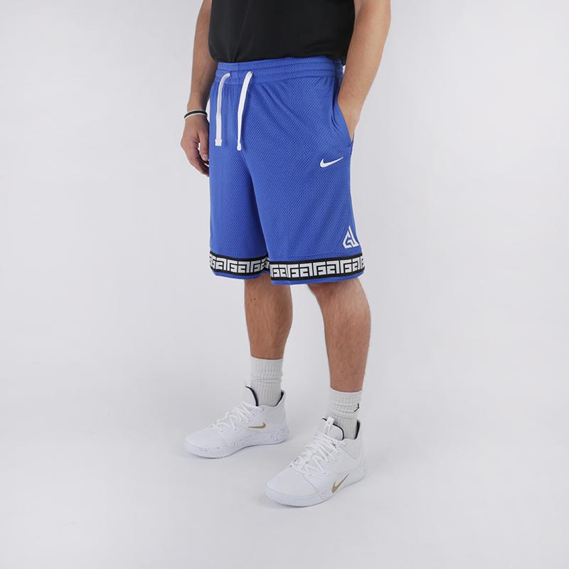 мужские синие  шорты nike giannis logo shorts CD9554-480 - цена, описание, фото 3