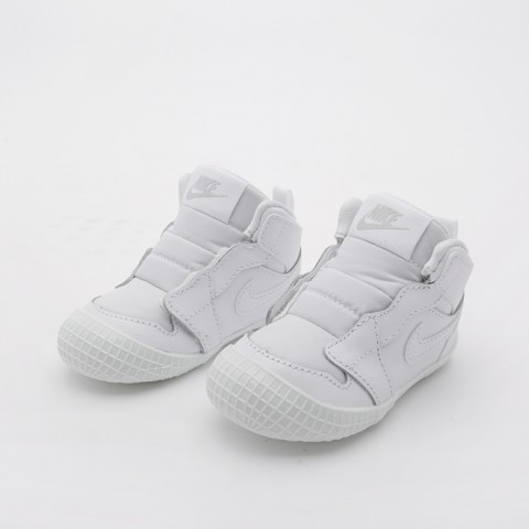 детские белые  кроссовки jordan 1 crib bootie AT3745-100 - цена, описание, фото 2