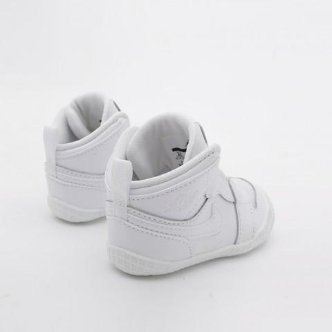 детские белые  кроссовки jordan 1 crib bootie AT3745-100 - цена, описание, фото 4