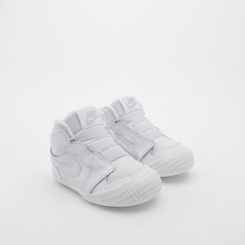 детские белые  кроссовки jordan 1 crib bootie AT3745-100 - цена, описание, фото 1