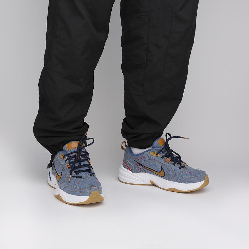 синие  кроссовки nike air monarch iv prm AV6676-400 - цена, описание, фото 6
