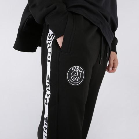 мужские чёрные  брюки jordan psg fleece pant BQ8348-010 - цена, описание, фото 5