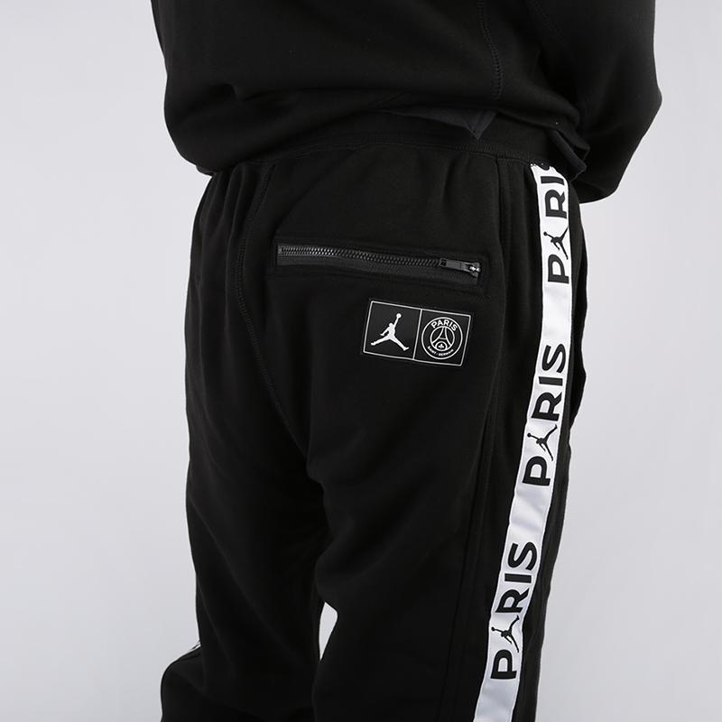 мужские чёрные  брюки jordan psg fleece pant BQ8348-010 - цена, описание, фото 6