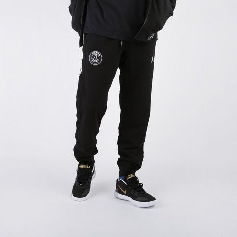 мужские чёрные  брюки jordan psg fleece pant BQ8348-010 - цена, описание, фото 1