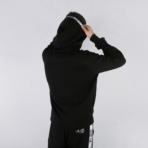 мужскую чёрную  толстовка jordan psg fleece hoodie BQ8346-010 - цена, описание, фото 2