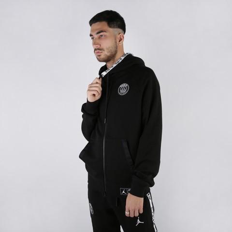 мужскую чёрную  толстовка jordan psg fleece hoodie BQ8346-010 - цена, описание, фото 1