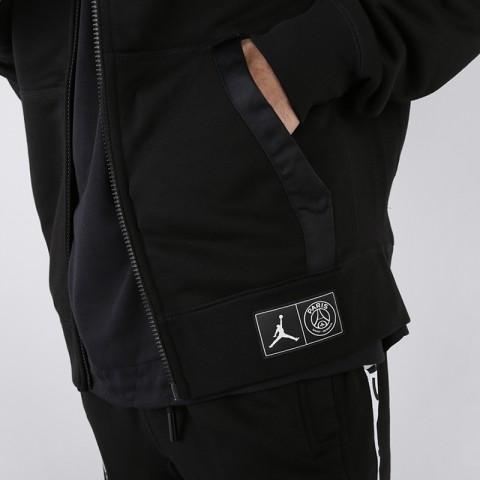 мужскую чёрную  толстовка jordan psg fleece hoodie BQ8346-010 - цена, описание, фото 4