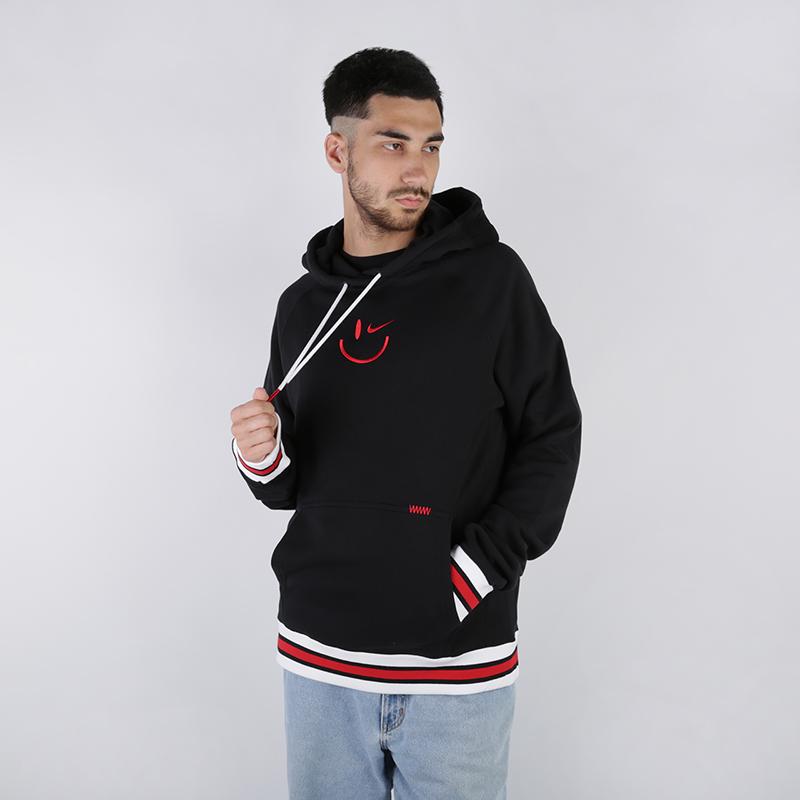 мужскую чёрную  толстовка nike sweat kma hoodie AT3273-010 - цена, описание, фото 1