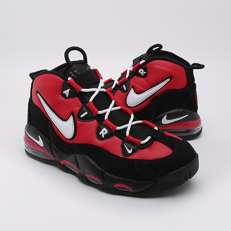 Nike Air Max 95 черные с красной вставкой