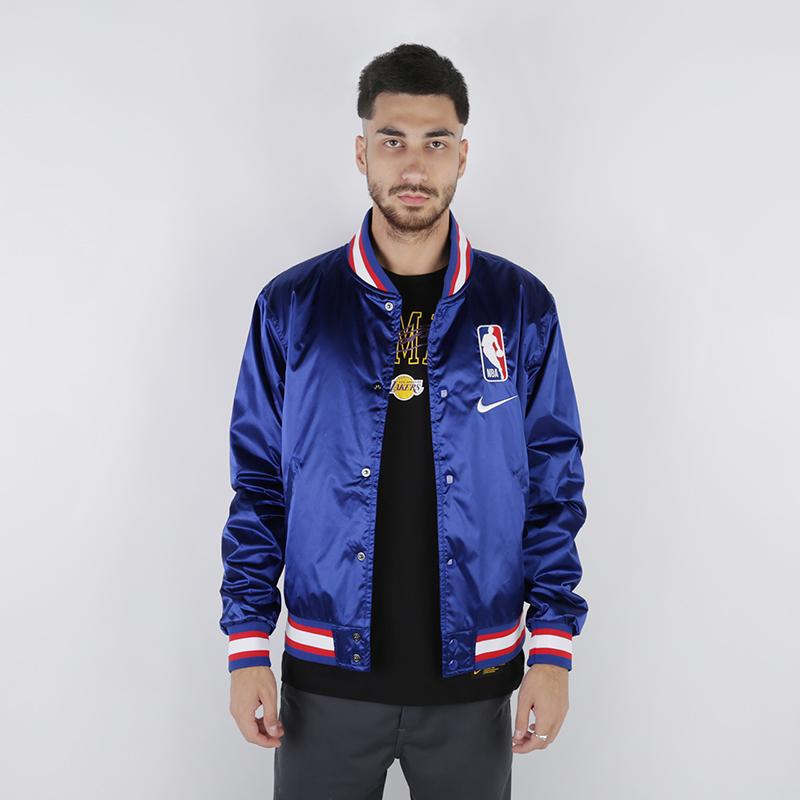 Куртка Nike, NBA Varsity Satin Jacket, Синий