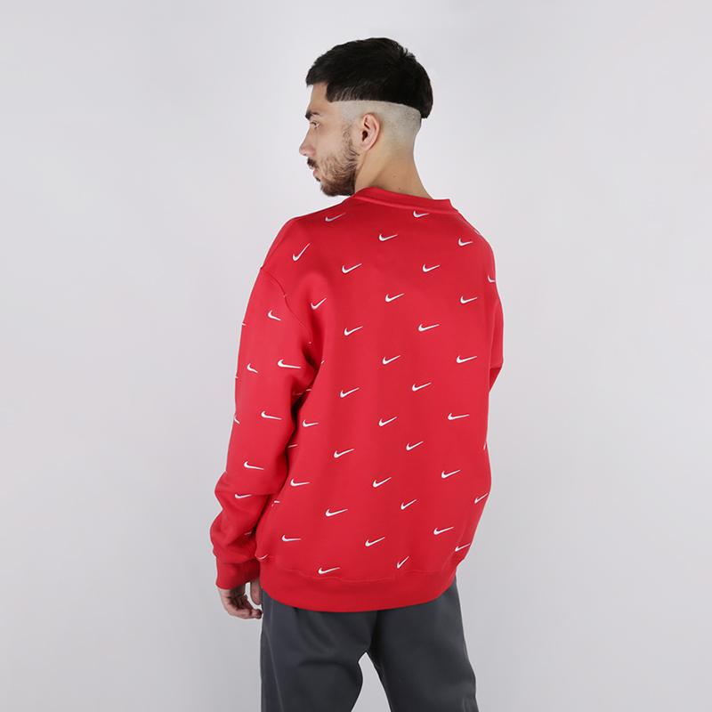 Толстовка Nike, NRG Crew Swoosh Stripe All, Красный