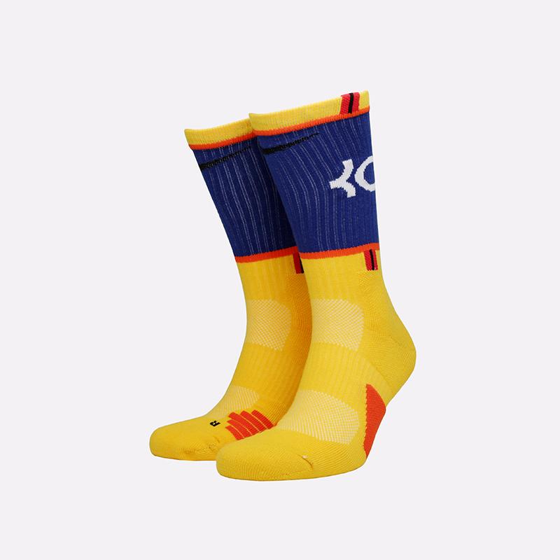 мужские жёлтые  носки nike kd elite crew SX7860-741 - цена, описание, фото 1