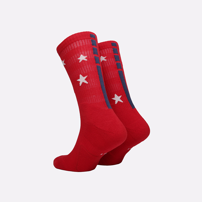 мужские красные  носки nike elite crew SX7424-608 - цена, описание, фото 2