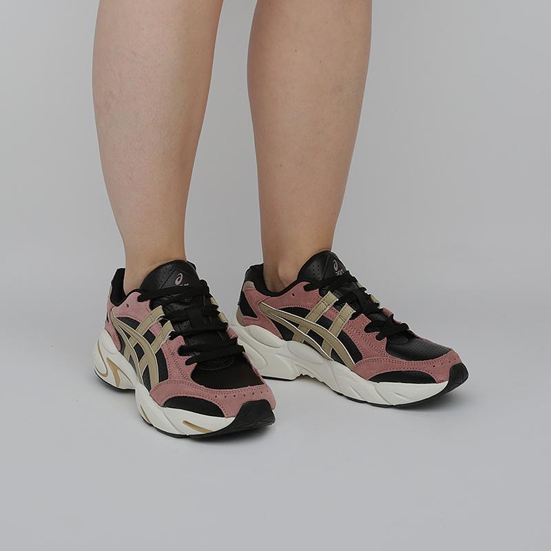 женские черные, розовые  кроссовки asics tiger gel-bnd 1022A192-001 - цена, описание, фото 6