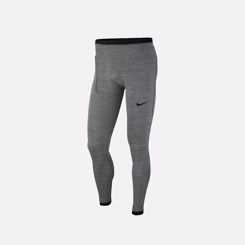 мужские серые  тайтсы nike pro tights BV5517-071 - цена, описание, фото 1