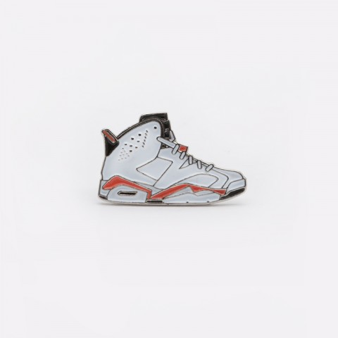 Значок Pin Bar Jordan 6 White