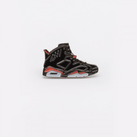 черный  значок pin bar jordan 6 black Jordan 6 Black - цена, описание, фото 1
