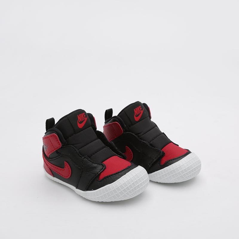 детские чёрные  кроссовки jordan 1 crib bootie AT3745-023 - цена, описание, фото 1