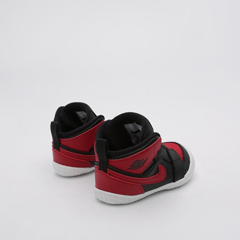 детские чёрные  кроссовки jordan 1 crib bootie AT3745-023 - цена, описание, фото 4
