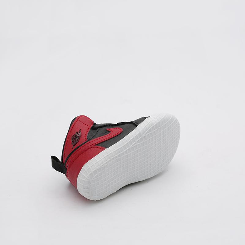 детские чёрные  кроссовки jordan 1 crib bootie AT3745-023 - цена, описание, фото 5