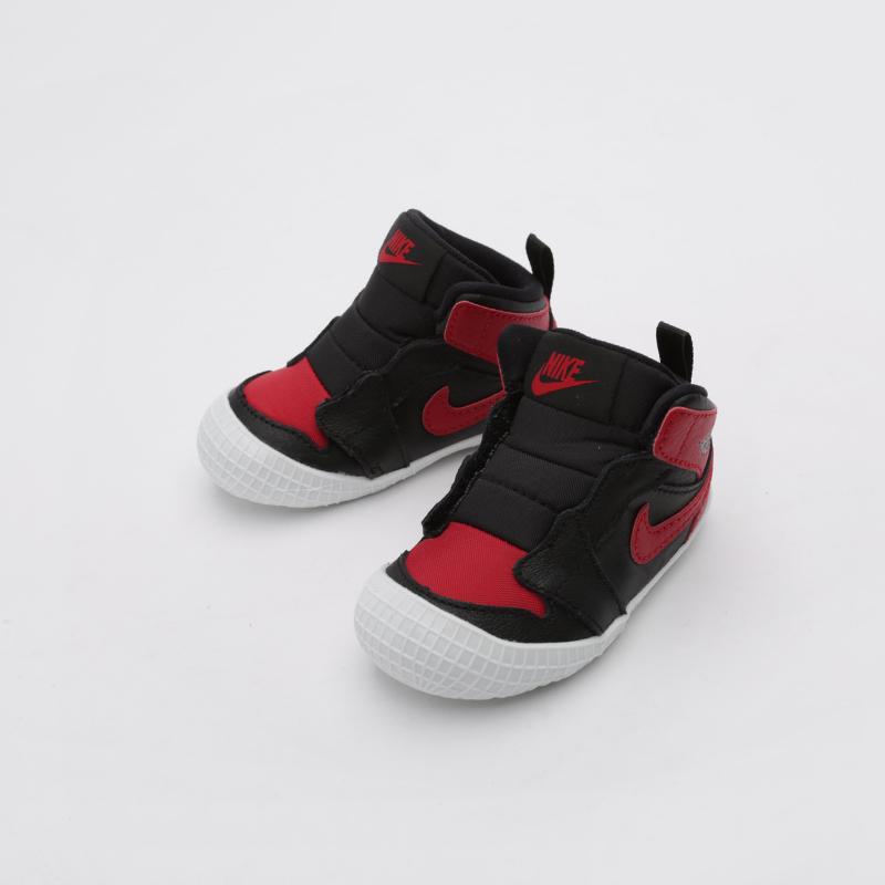 детские чёрные  кроссовки jordan 1 crib bootie AT3745-023 - цена, описание, фото 3