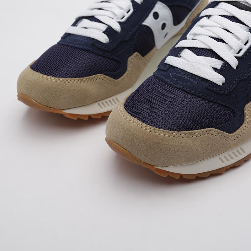 мужские бежевые, синие  кроссовки saucony shadow 5000 S7040420 - цена, описание, фото 5
