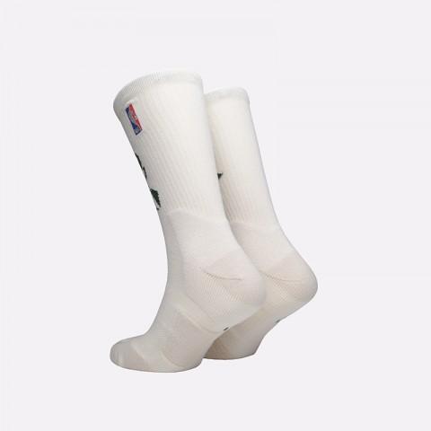 мужские бежевые  носки nike milwaukee bucks elite crew SK0174-206 - цена, описание, фото 2