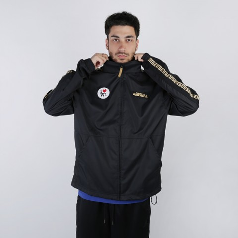 мужскую чёрную  куртку nike giannis 'coming to america' CQ6308-010 - цена, описание, фото 1