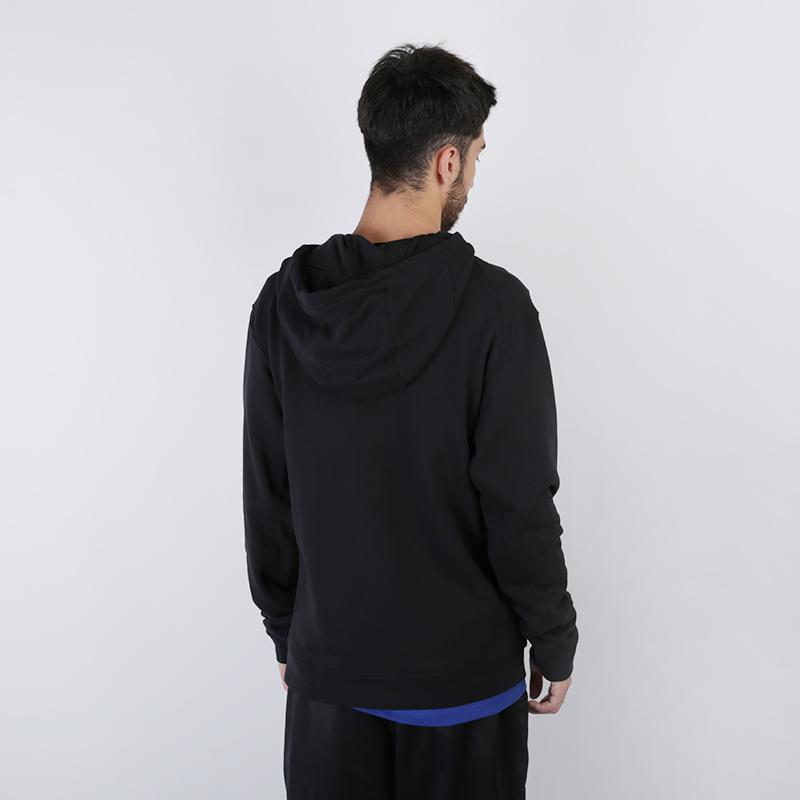 мужскую чёрную  толстовка nike hoodie po courtside CI1749-010 - цена, описание, фото 3