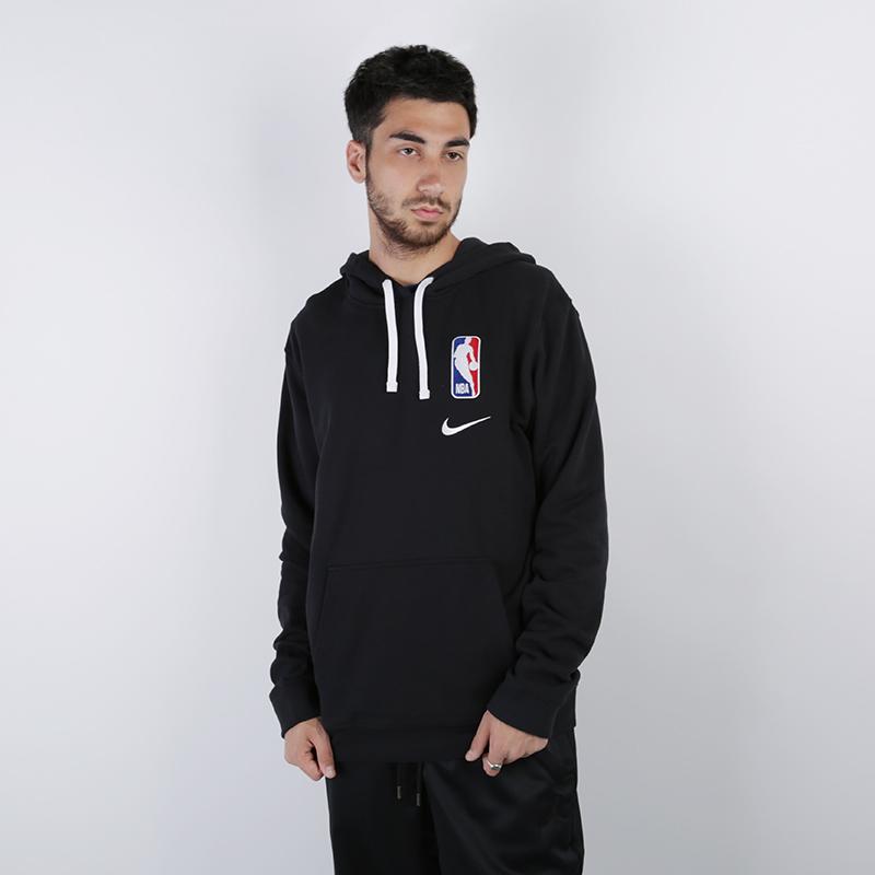 мужскую чёрную  толстовка nike hoodie po courtside CI1749-010 - цена, описание, фото 1