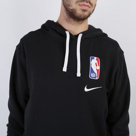 мужскую чёрную  толстовка nike hoodie po courtside CI1749-010 - цена, описание, фото 4