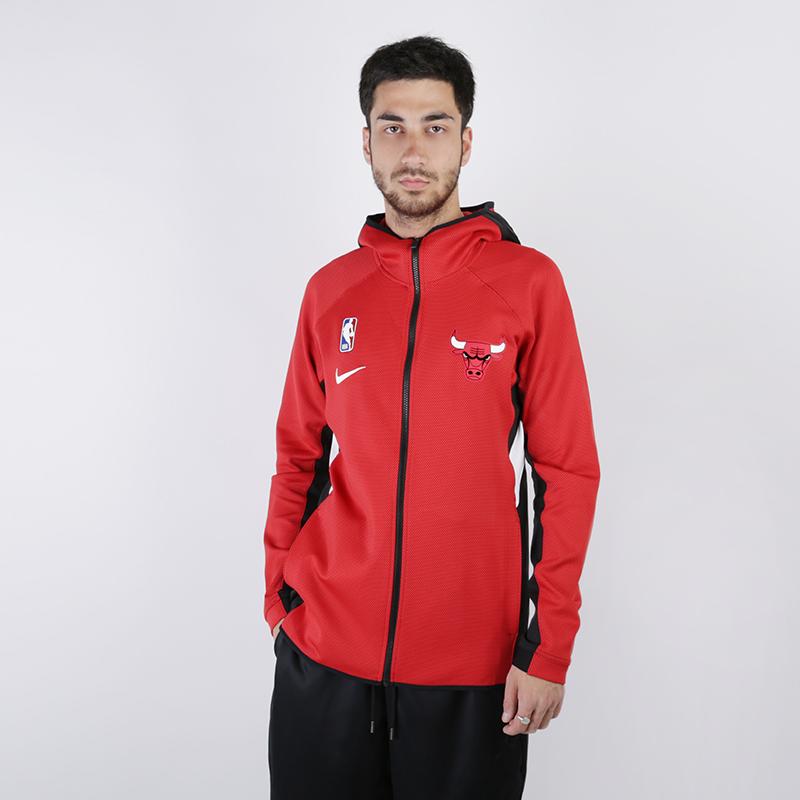 мужскую красную  толстовка nike chicago bulls therma flex showtime zip hoodie AT8452-657 - цена, описание, фото 1