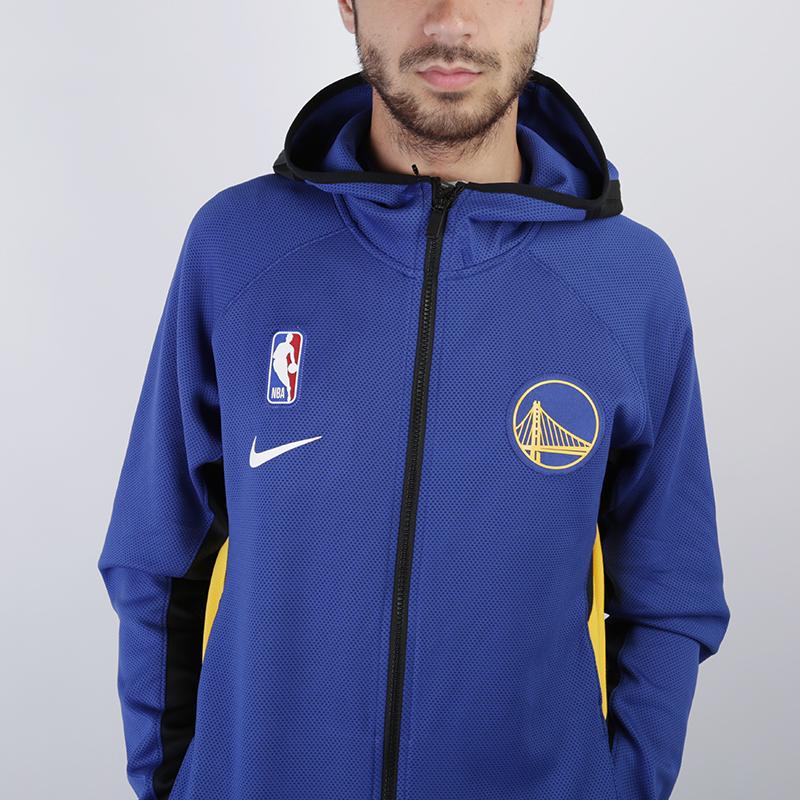 мужскую синюю  толстовка nike warriors therma flex showtime zip hoodie AT8462-495 - цена, описание, фото 4
