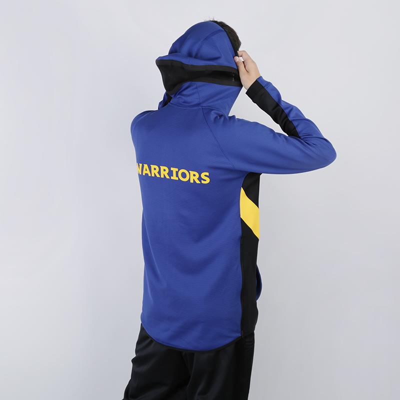 мужскую синюю  толстовка nike warriors therma flex showtime zip hoodie AT8462-495 - цена, описание, фото 3