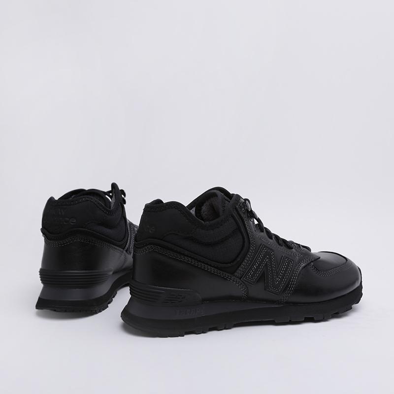мужские чёрные  кроссовки new balance 574 MH574OAC/D - цена, описание, фото 1