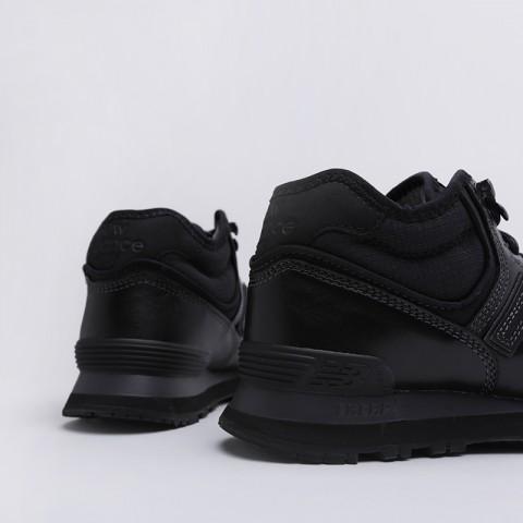 мужские чёрные  кроссовки new balance 574 MH574OAC/D - цена, описание, фото 4