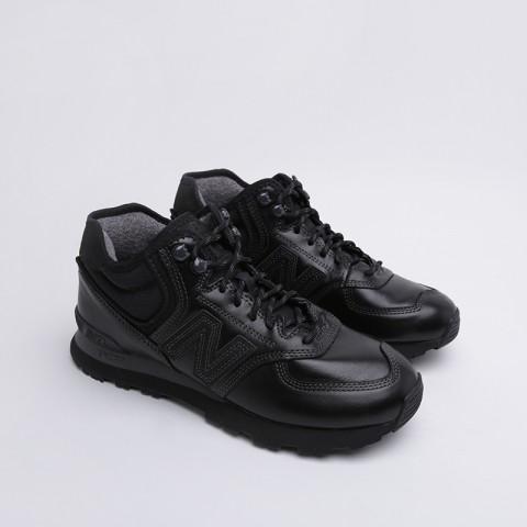 мужские чёрные  кроссовки new balance 574 MH574OAC/D - цена, описание, фото 2