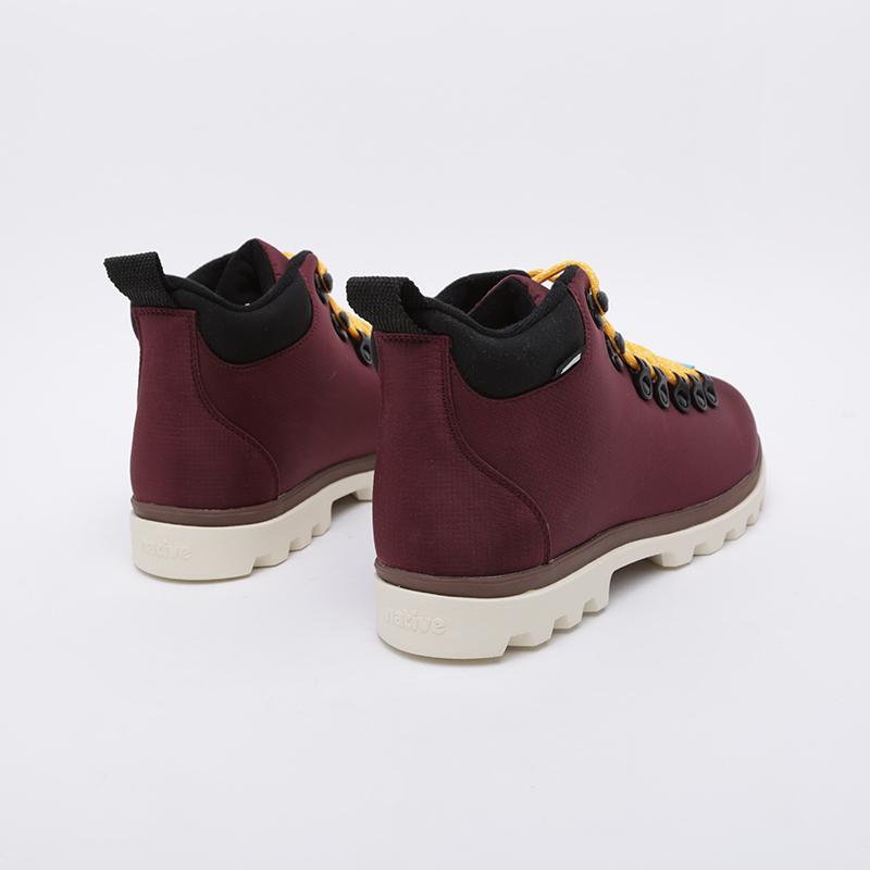 бордовые  ботинки native fitzsimmons treklite 41100630-6112 - цена, описание, фото 3