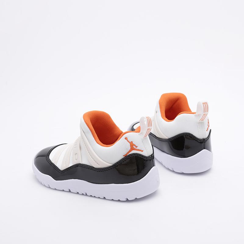 детские бежевые, чёрные  кроссовки jordan 11 retro little flex ps BQ7101-108 - цена, описание, фото 3