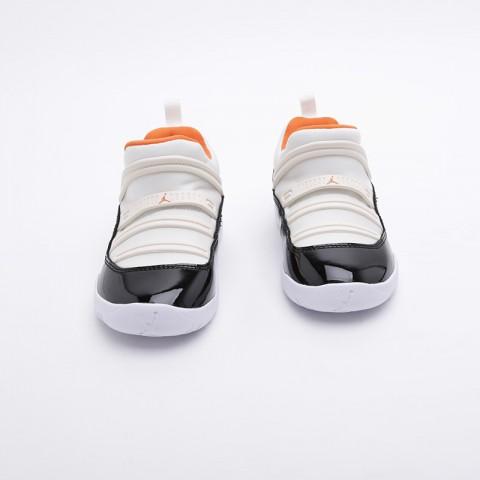 детские бежевые, чёрные  кроссовки jordan 11 retro little flex ps BQ7101-108 - цена, описание, фото 4