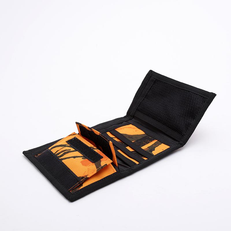 оранжевый, чёрный  бумажник carhartt wip payton wallet I025411-orng/blk - цена, описание, фото 2