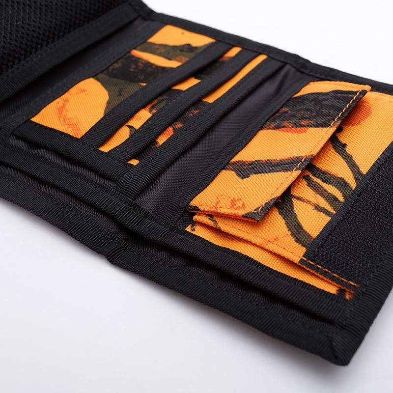 оранжевый, чёрный  бумажник carhartt wip payton wallet I025411-orng/blk - цена, описание, фото 3