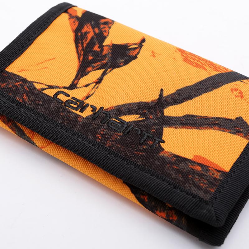 оранжевый, чёрный  бумажник carhartt wip payton wallet I025411-orng/blk - цена, описание, фото 4