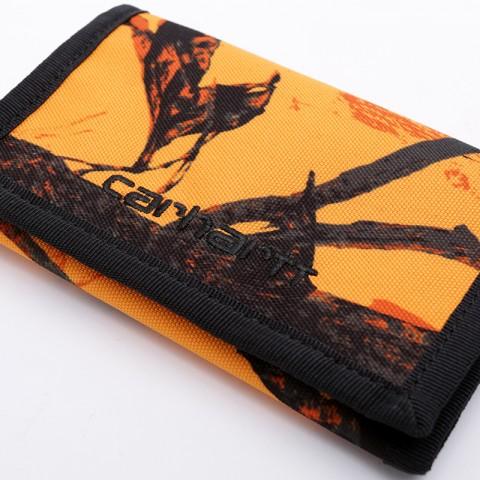 оранжевый, чёрный  бумажник carhartt wip payton wallet I025411 - цена, описание, фото 4
