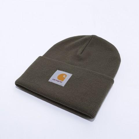 зелёную  шапка carhartt wip acrylic watch hat I020222-cypress - цена, описание, фото 2
