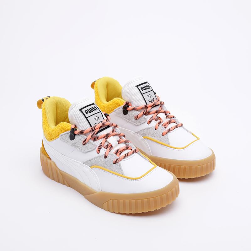 женские белые  кроссовки puma cali sue tsai 36987701 - цена, описание, фото 1