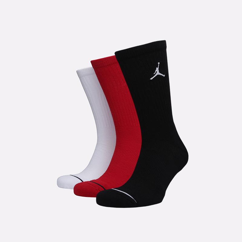 мужские чёрные, белые, красные  носки jordan everyday max crew SX5545-011 - цена, описание, фото 1