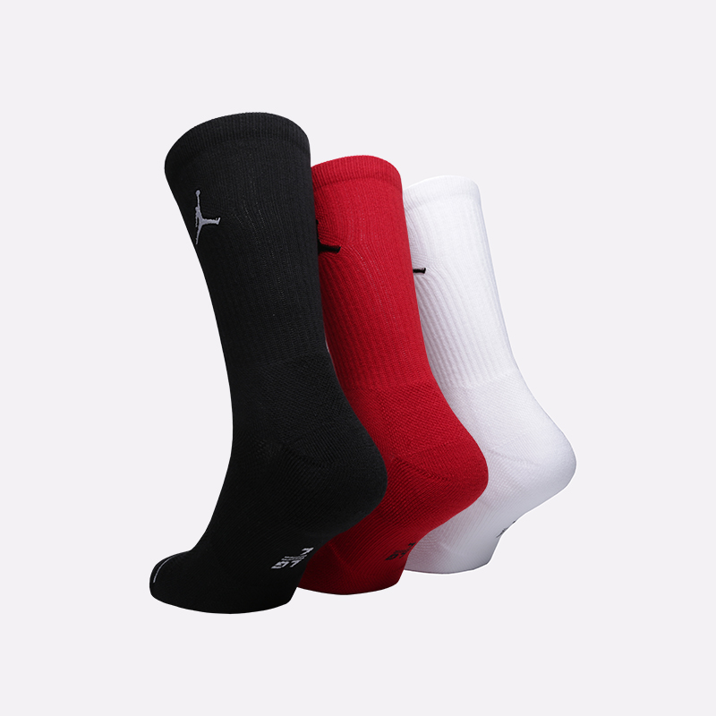 мужские чёрные, белые, красные  носки jordan everyday max crew SX5545-011 - цена, описание, фото 2