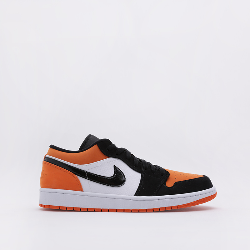 Кроссовки Jordan, 1 Low, Оранжевый;белый;чёрный